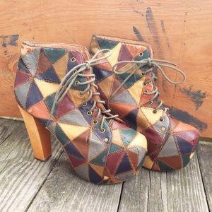 Jeffrey Campbell Patchwork Lita Boots